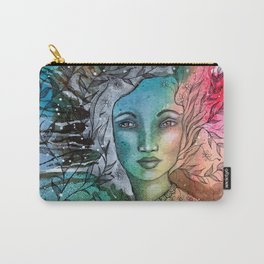 Floral Lady Carry-All Pouch