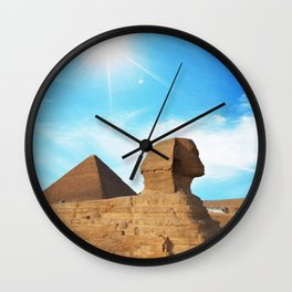 Great Sphinx of Giza, Egypt in a Clear Sky Wall Clock