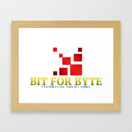 Bit For Byte (Red) Framed Art Print