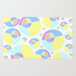 Bubble yellow & blue 08 Rug