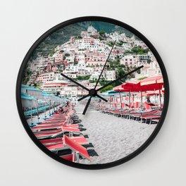 Positano Paradise Wall Clock