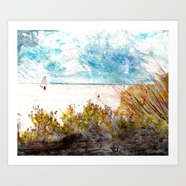 Banana River Windsurfer Art Print