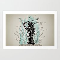 diver Art Prints featuring DIVER by taniavisual