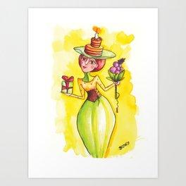 """Happy birthday-Lady! (""""Boldog születésnapot!"""") by Verabella Art Print"""