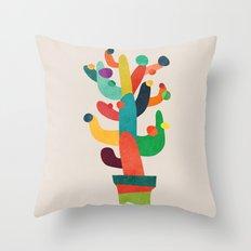 Whimsical Cactus Throw Pillow