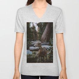 Sequoia Forest Deer Unisex V-Neck