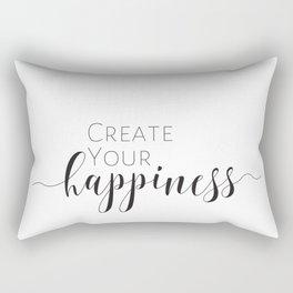 Create Your Happiness Rectangular Pillow