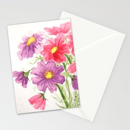 Pink and Purple Cosmos Stationery Cards