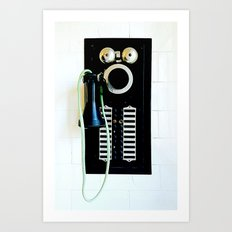 Wall Phone Art Print