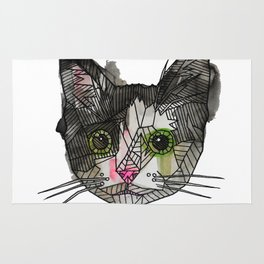 Geometric Rescue Cat Rug