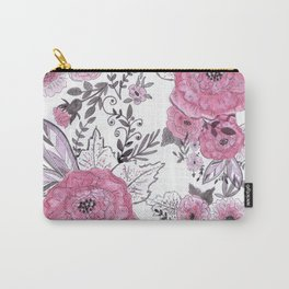 Watercolor roses with black and gray leaves . Carry-All Pouch