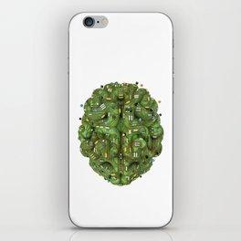 Circuit brain iPhone Skin