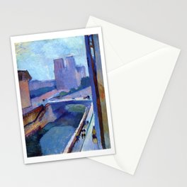 A Glimpse of Notre-Dame in the Late Afternoon - Henri Matisse Stationery Cards