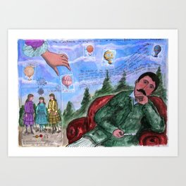 MONGOLFIERE Art Print