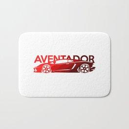 Lamborghini Aventador - classic red - Bath Mat