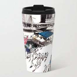 South Street Seaport, NYC Metal Travel Mug