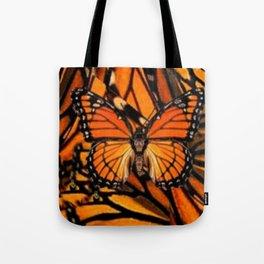 ORANGE MONARCH BUTTERFLY PATTERNED ARTWORK Tote Bag