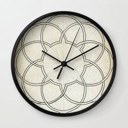 Geometry Sketch Eleven Wall Clock