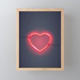 I HEART YOU Framed Mini Art Print