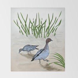 Australian Wood Duck Throw Blanket