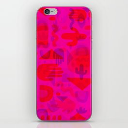 Neon Cutout Print iPhone Skin