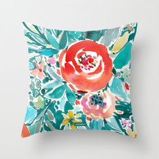 IN FLOW FLORAL Throw Pillow