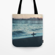 the lone surfer ... Tote Bag