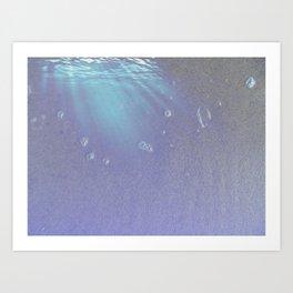 Abstract Blue Beach Art Print