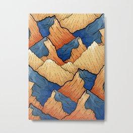 The Sea Peak Pattern Metal Print