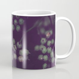Sage Green Seeds on Deep Plum Coffee Mug