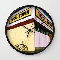 tool Wall Clocks featuring Tool Town by Vorona Photography