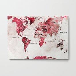 world map 26 Metal Print