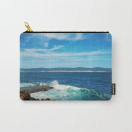 wavy blue sea Carry-All Pouch