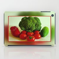 vegetables iPad Cases featuring Fresh Vegetables by Art-Motiva