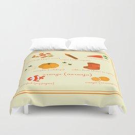 Colors: orange (Los colores: naranja) Duvet Cover