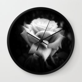 Pink Roses in Anzures 6 Dark Wall Clock