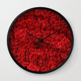 Red Rose Wall Clock