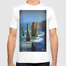 Limestone Rock Stacks - Twelve Apostles SMALL White Mens Fitted Tee