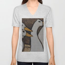 DUCKIES Unisex V-Neck