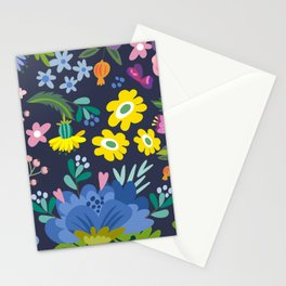 Poster Background | Spring Floral Pattern Stationery Cards
