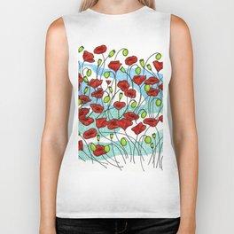 Field Poppies Biker Tank