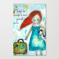 Travel girl quote Canvas Print