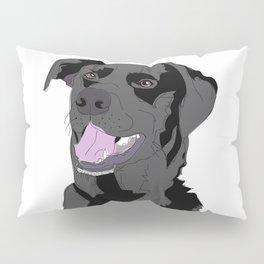 Black Labrador Dog (face) Pillow Sham
