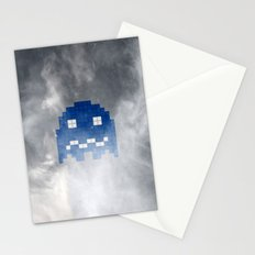 Pac-Man Blue Ghost Stationery Cards
