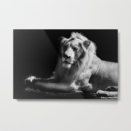 The King Black and White Metal Print