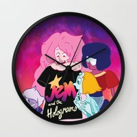 jem Wall Clocks featuring Gems x Jem by elletra
