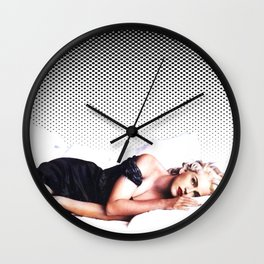 In Bed With Madonna Wall Clock