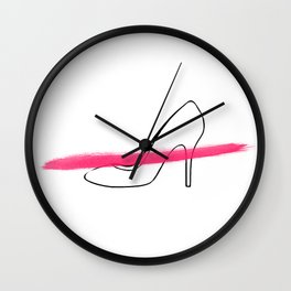 Pink Shoe 2 Wall Clock