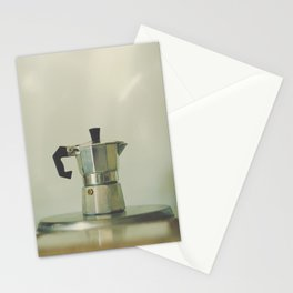 Italian moka pot. Stationery Cards