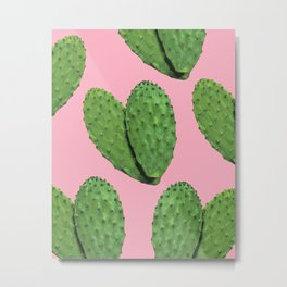 Cactus on pink backround #society6 Metal Print